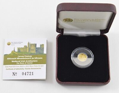 2013 Central Bank of Ireland Medieval Architecture Gold Proof 20 Euro Coin *6765