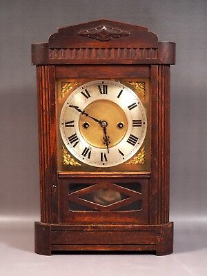 RARE Ganter Bros. Dublin  Wood Case Clock England Ireland