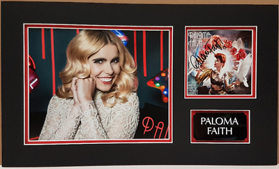 PALOMA FAITH personally signed CD cover, Picture mounted and matted 19x12
