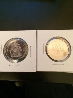 Canada 2017 50 Cent Coins Both Varieties