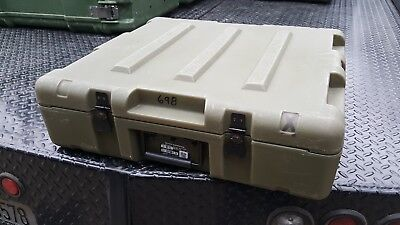 Miltope laptop briefcase pelican style Military Surplus hard Shipping Case trans