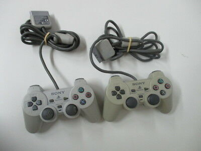 PS1 Controller SCPH-1200 Gray Lot of 3 /Scratches Yellowed JP No.4