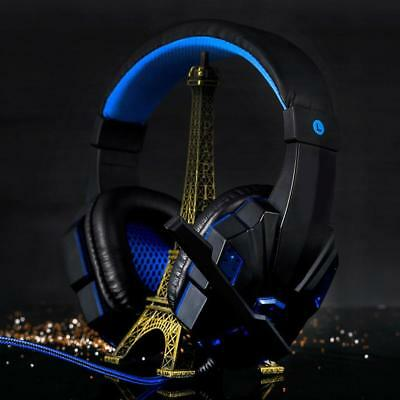 PC Gaming Headset For PS4 LED Headphones With Microphone 3.5mm Stereo USB Gamer