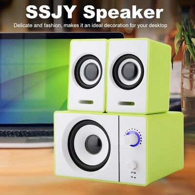USB Wired Computer Speakers with Subwoofer 3.5mm Jack for Desktop Laptop PC DVD