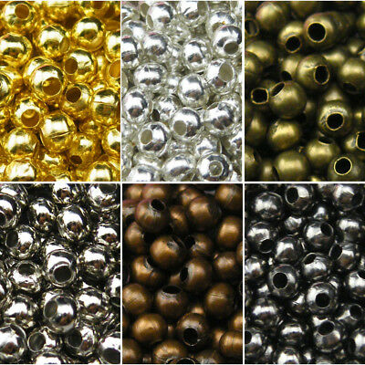 Wholesale Metal Round Space Beads 2.4mm 3.2mm 4mm 5mm 6mm 8mm R3003