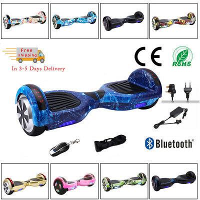Hoverboard 6.5 Inch Self Balancing Electric Scooters Bluetooth LED Light Bag