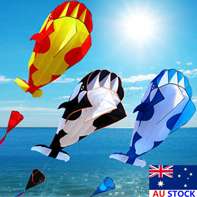 215*120cm 3D Cartoon Whale Software Kite Single Line BechWith String Outdoor Toy