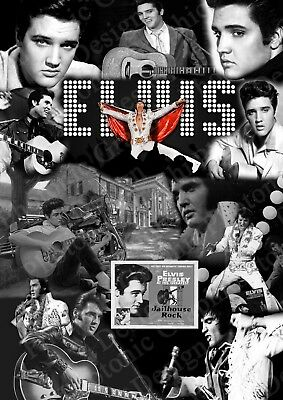 Elvis Presley Gift | Music Photo Poster Picture Print ONLY | Wall Art A4 |