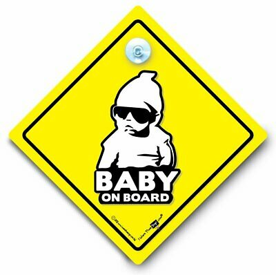 Hoodie Baby On Board Car Sign, Baby On Board Sign, Cool Baby Suction Cup Sign