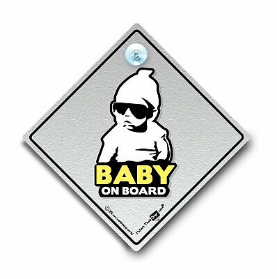 Hoodie Baby On Board Sign, Baby On Board Car Sign, Suction Cup Sign, Hoody Baby