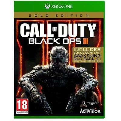 Call of Duty Black Ops 3 III XBox One Gold Edition Game New & Sealed