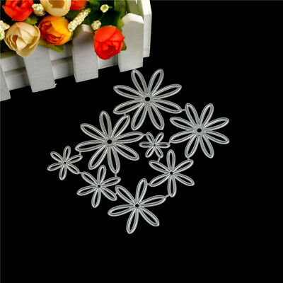8Pcs Flower Design Metal Cutting Die For DIY Scrapbooking Album Paper Cards _S