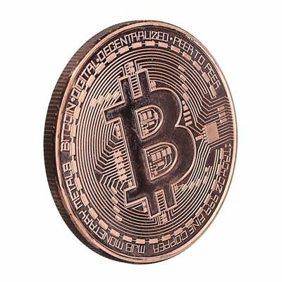 Rose Gold BITCOIN!! Plated Physical Bitcoin in protective acrylic case HOT NEW