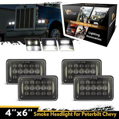 """4pc 60W DOT Approved IP67 4x6"""" Led Cree Projector Headlight for H4651 H4652 4652"""