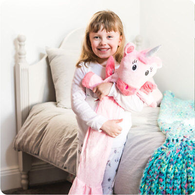 Potwells Unicorn Long Hot Water Bottle | Cuddly, Fun Hot Water Bottle |UK Seller