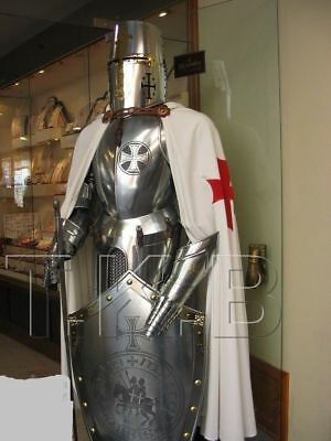 Rare Medieval Wearable Knight Crusader Full Suit Of Armour Collectible Costume
