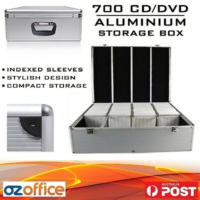 700 x CD DVD Blu Ray Aluminium Storage Box Lock Storage Case - BUY 2 = FREE GIFT