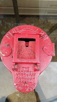 Early 1900's Teardrop Gamewell Auxiliary Fire Alarm Box vintage New York  RARE