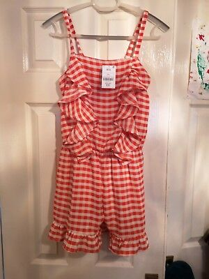 BNWT Red & White Gingham Playsuit From Next Age 12 Years