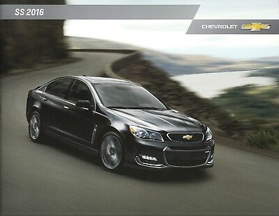 2016 Chevrolet SS 415 HP Sport Coupe Holden Commodore Dealer Sales Brochure