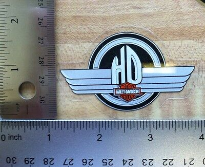 Harley-Davidson HD Small Inside Window Decal.Vintage Harley Sticker.2 X 3 NOS