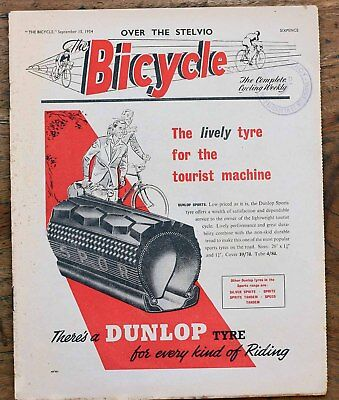 OLD  Magazine  Bicycle September 15th 1954 The Complete Cycling weekly