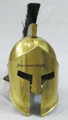 Medieval Armor Roman Greek King Leonidas Movie 300 Spartan Helmet W Plume &Stand