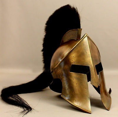 300 Movie King Leonidas Spartan Helmet Greek Warrior Costume Helm Medieval Gift;