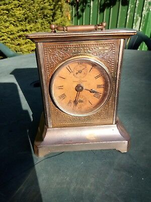 Vintage Carriage Clock Make Unknown Dated 1816 On Underside With 2 Keys