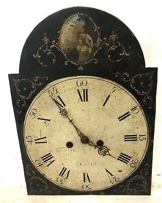 Antique Longcase Grandfather Clock Arched Dial & Movement 8 Day