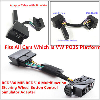 MFSW Quadlock Adapter Cable For RCD330 on Jetta Golf MK5 Steering Wheel Buttons