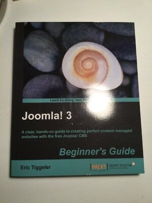 NEW Joomla! 3 Beginner's Guide by Eric Tiggeler BOOK (Paperback) Free P&H
