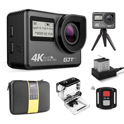 4K Touchscreen Action Camera Portable Package WiFi Dual Screen 12MP Ultra HD