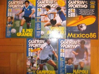 Guerin Sportivo  Mondiali Mexico 1986 Lotto  Di 5 Riviste E Supplemento Bearzot
