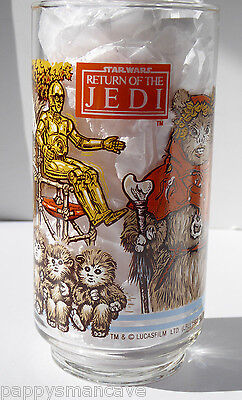 Vintage Star Wars Return Of The Jedi EWOK VILLAGE Glass Coca-Cola Burger King