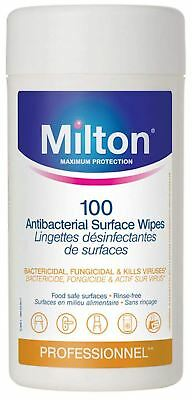 Milton ANTIBACTERIAL SURFACE WIPES X100 Baby Safety BN
