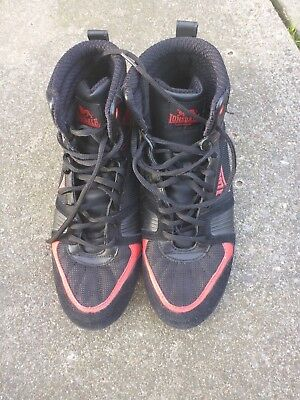 LONSDALE Storm Box 20 M:Core Boots Black Red Lace Up Size 9 Boxing Trainers