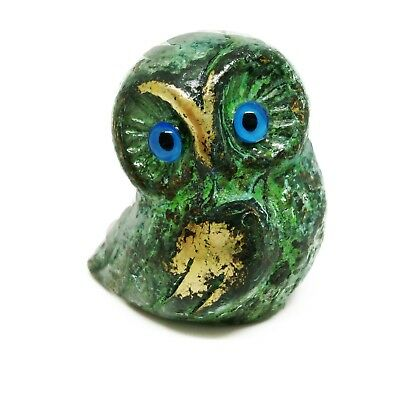 Ancient Greek Bronze Museum Statue Replica of Owl Symbol Athena Goddness