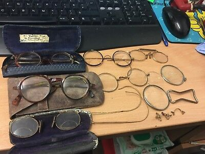 antique spectacles glasses job lot some rolled gold
