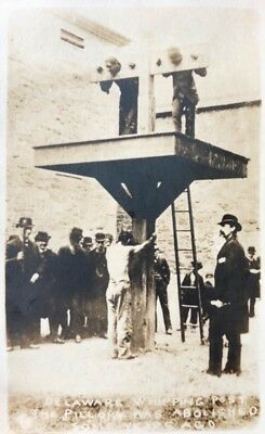 RPPC of Delaware whipping post and pillory used until 1951