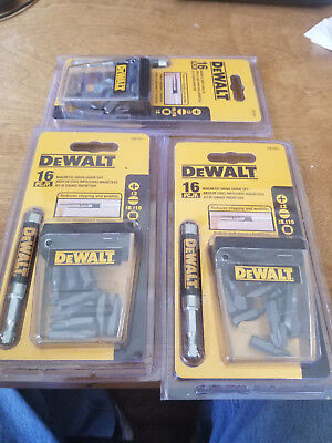 3 packs   dewalt 16 pcs magnetic driver dw2053
