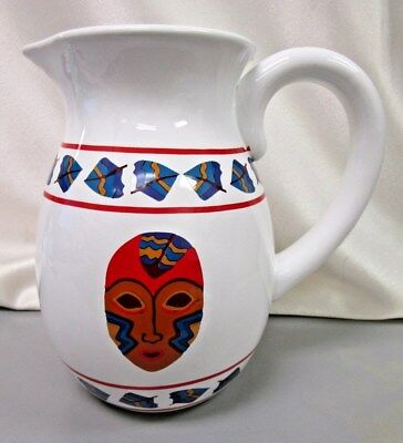 Native American Lillian Pitt Serving Water Pitcher Pacific Northwest ~ Signed