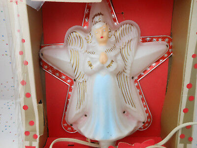 Vintage Angel Star Christmas Tree Topper Celluloid Old Plastic Foil Antique