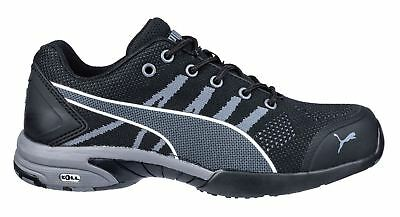 b0fb1114d09 PUMA SAFETY WOMENS Celerity Knit Steel Toe Black Grey 642925 ...