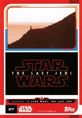 Star Wars - Card No.87-  The Last Jedi