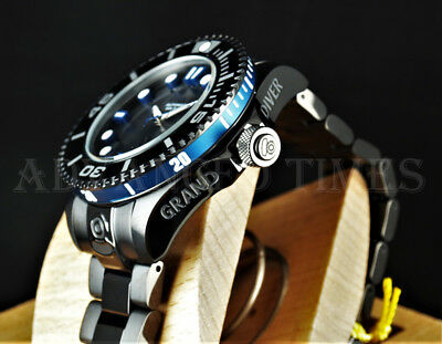 Invicta Grand Diver GEN II BLACK COMBAT Blue Edge Automatic Black IP SS Watch