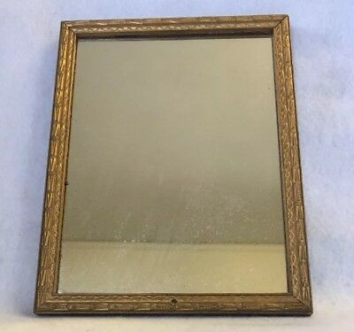 Vintage Small Antique Mirror With Print