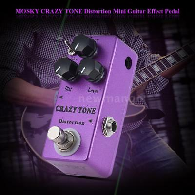 MOSKY CRAZY TONE RIOT Mini Distortion Guitar Effect Pedal True Bypass Metal I9T6