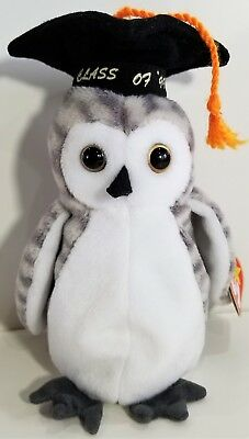 "TY Beanie Babies ""WISER"" Class of 1999 Graduation OWL Bird MWMTs! GREAT GIFT!"