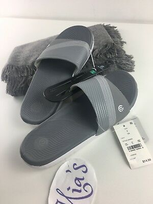 ad83874734312 C9 CHAMPION MEN S Gray White Jerry Slide Sandals Flip Flops Size M ...